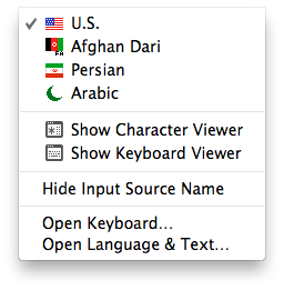 Switch to any language you need-Arabic Mac